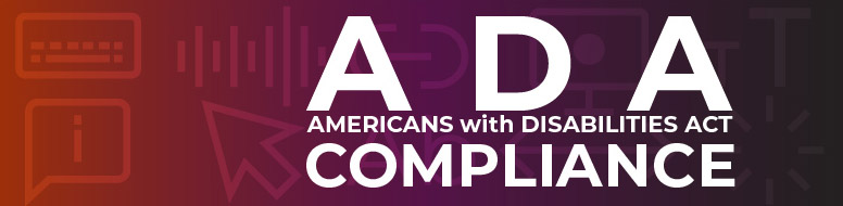 ADA Compliance section Header